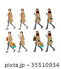 秋 冬 ファッションのイラスト 35510934