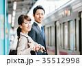 電車 移動 ビジネス 男女 撮影協力・京王電鉄株式会社 35512998