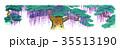 歌舞伎の舞台イラスト 35513190