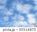秋の稲毛海浜公園の青空と白い雲 35514875