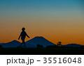夕暮れの富士山 35516048