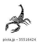 Black and white Scorpion for tattoos, zodiac sign 35516424
