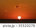 海 夕日 日没の写真 35520276
