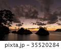 海 海岸 夕焼けの写真 35520284