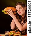 揚げ物 ハンバーガー バーガーの写真 35520908