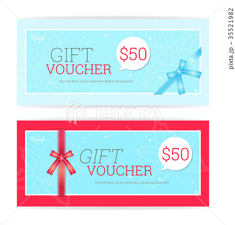 gift certificate voucher and coupon card templateのイラスト素材