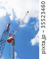 大規模建設現場のクレーン 35523460