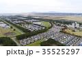 街並み 大潟村 空撮の写真 35525297