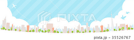 Townscape back image illustration_skyline wide 35526767