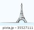 エッフェル塔 そびえる タワーのイラスト 35527111