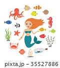 マーメイド マーメード 人魚のイラスト 35527886
