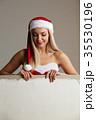 女の子 さんた サンタの写真 35530196