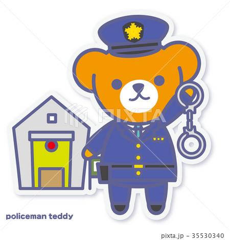 シーズンズテディ 警察官 35530340