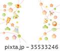 年賀状素材 年賀状 新年のイラスト 35533246