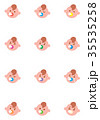 赤ちゃん 表情 顔のイラスト 35535258
