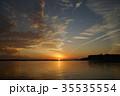 涸沼の夕景 35535554