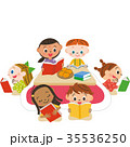 本を読む子供たち 35536250