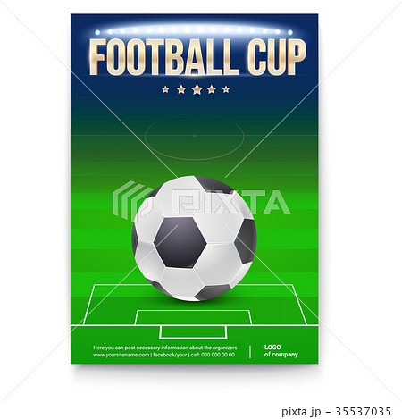 football cup poster template with place forのイラスト素材 35537035