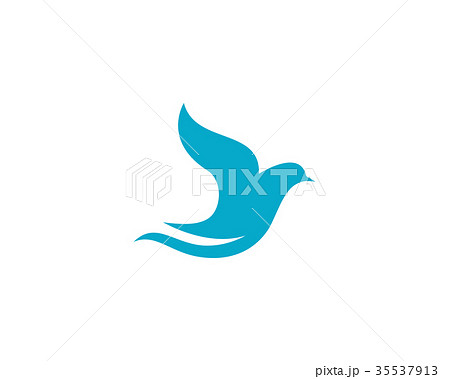 bird wing dove logo templateのイラスト素材 35537913 pixta