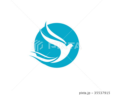 bird wing dove logo templateのイラスト素材 35537915 pixta