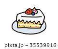 ショートケーキ デザート お菓子のイラスト 35539916