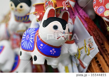 犬張子 はりぼて 縁起物 神社 お宮参り クラフト 犬 戌 戌年 干支 工芸 35544855