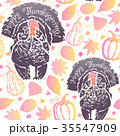 Thanksgiving seamless pattern with turkeys 35547909