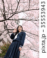 桜 学習イメージ 女子高校生の写真 35553943