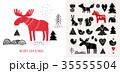 抽象的 クリスマス デザインのイラスト 35555504