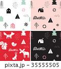 抽象的 クリスマス コレクションのイラスト 35555505