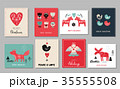 Christmas holidays greeting cards in Scandinavian style 35555508
