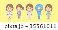 医療スタッフと患者さんのイラスト 35561011
