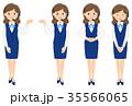 女性 バリエーション オペレーターのイラスト 35566065