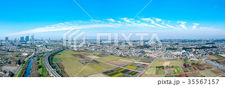 空撮 見沼田んぼとさいたま新都心 35567157