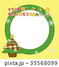 クリスマスフレーム パッチワーク風 35568099