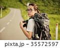 女性 バックパッカー 女子旅の写真 35572597