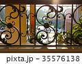 Black painted forged metal railings 35576138