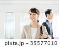 ビジネス 男女 電車 撮影協力・京王電鉄株式会社 35577010
