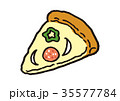 ピザ ピッツァ イタリアンのイラスト 35577784