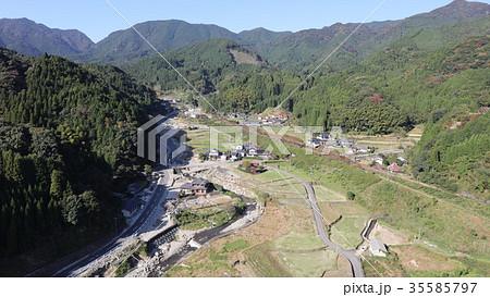 空撮 2017年10月31日撮影 九州北部豪雨後の東峰村宝珠山 35585797