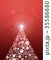 クリスマスツリー 飾り パーティクルのイラスト 35586680