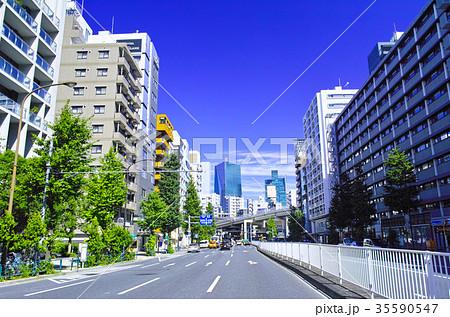 麻布通りから見た一の橋JCT方面の風景 35590547