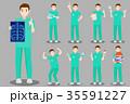 医師 医者 仕草のイラスト 35591227
