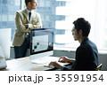 日本人 外国人 ビジネスの写真 35591954