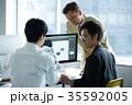 日本人 外国人 ビジネスの写真 35592005