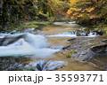 渓流 秋 川の写真 35593771