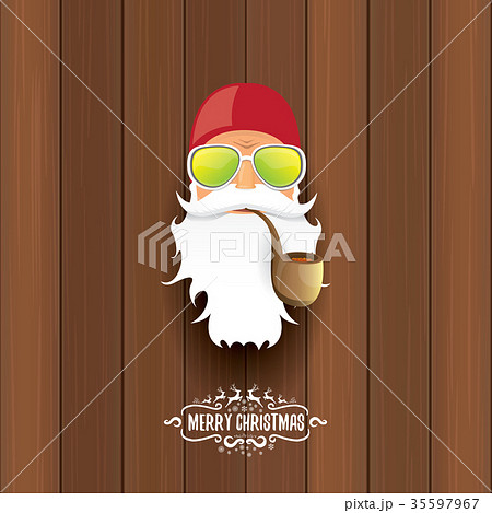 vector bad rock n roll dj santa claus with smoking 35597967