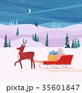クリスマス プレゼント 贈り物のイラスト 35601847