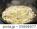 鍋物 豚肉 白菜の写真 35606977