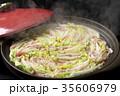 鍋物 豚肉 白菜の写真 35606979